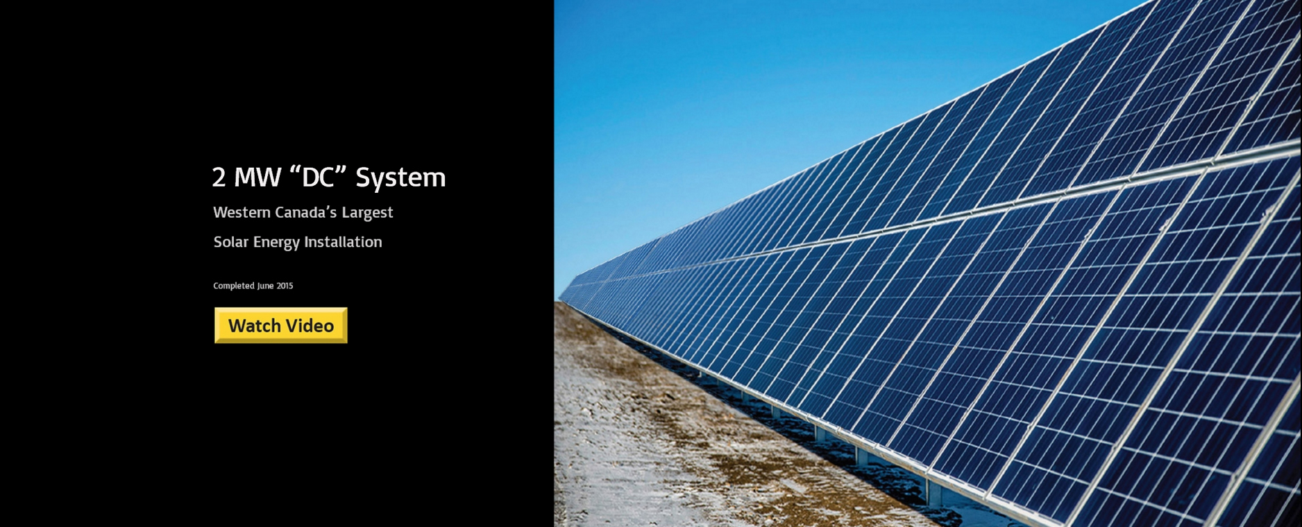 "Solar Panels 2 MW ""DC"" System"